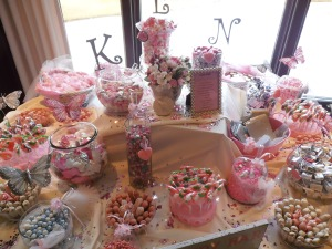 Ombre Candy Station in Pinks