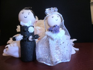 Bride & Groom Cork Figures